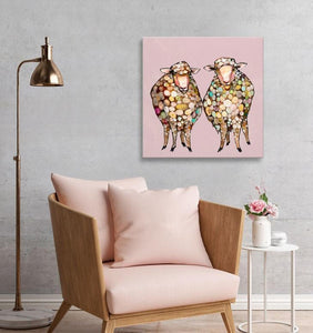 2 Woolly Sheep - Canvas Giclée Print