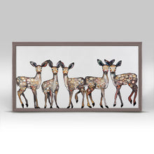 "Load image into Gallery viewer, 5 Dancing Fawns Mini Print 10""x5"""