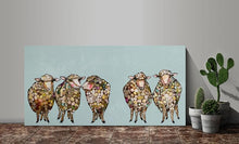 Load image into Gallery viewer, 5 Woolly Sheep - Canvas Giclée Print