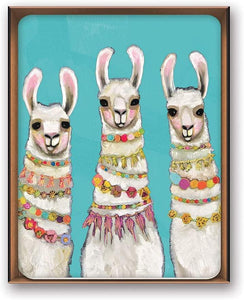 Llama Metallic Gold Embellished Note Cards Box of 8