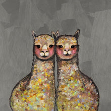 Load image into Gallery viewer, Alpaca Duo - Canvas Giclée Print