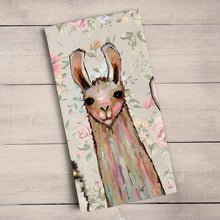 Load image into Gallery viewer, Baby Llama and Friends Tea Towel