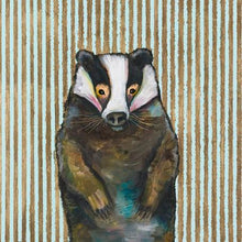 Load image into Gallery viewer, badger nursery baby wall art print