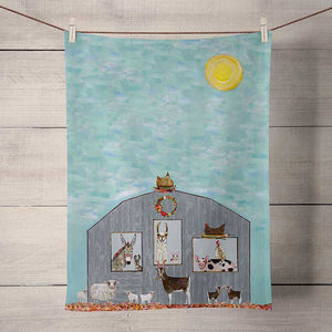 Barn Party Tea Towel