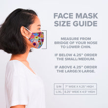 Load image into Gallery viewer, Forest Animals - Floral Cotton Jersey Face Mask
