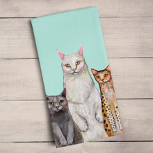 Load image into Gallery viewer, Cats Cats Cats Tea Towel
