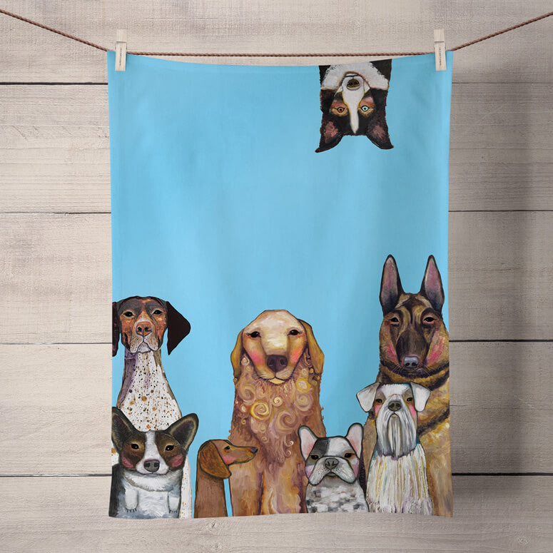 Dogs Dogs Dogs Tea Towel  - BACK IN STOCK FEBRUARY 15, 2021