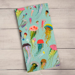 Floating Jellyfish Tea Towel