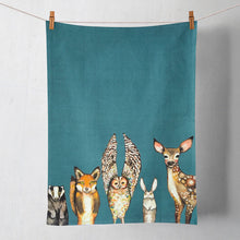 Load image into Gallery viewer, Forest Animals Tea Towel - BACK IN STOCK FEBRUARY 15, 2021