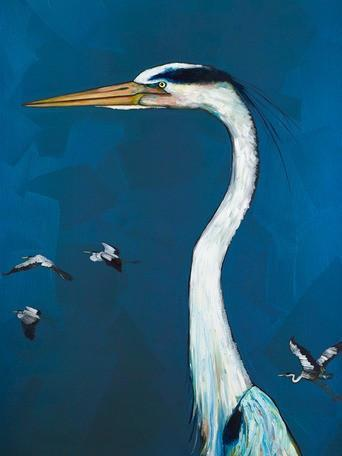 Great Blue Heron - Canvas Giclée Print