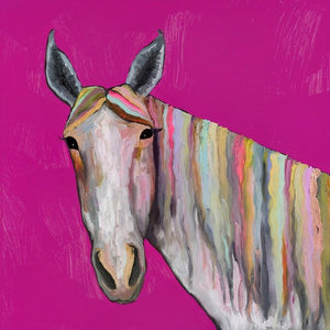 Horse On Pink - Canvas Giclée Print