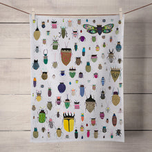 Load image into Gallery viewer, Insect Friends Tea Towel