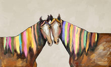 Load image into Gallery viewer, Manes of Color on Cream - Canvas Giclée Print