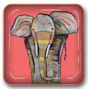 Elephant Small Metal Catchall Tray