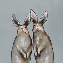 Load image into Gallery viewer, Rabbit Duo - Canvas Giclée Print