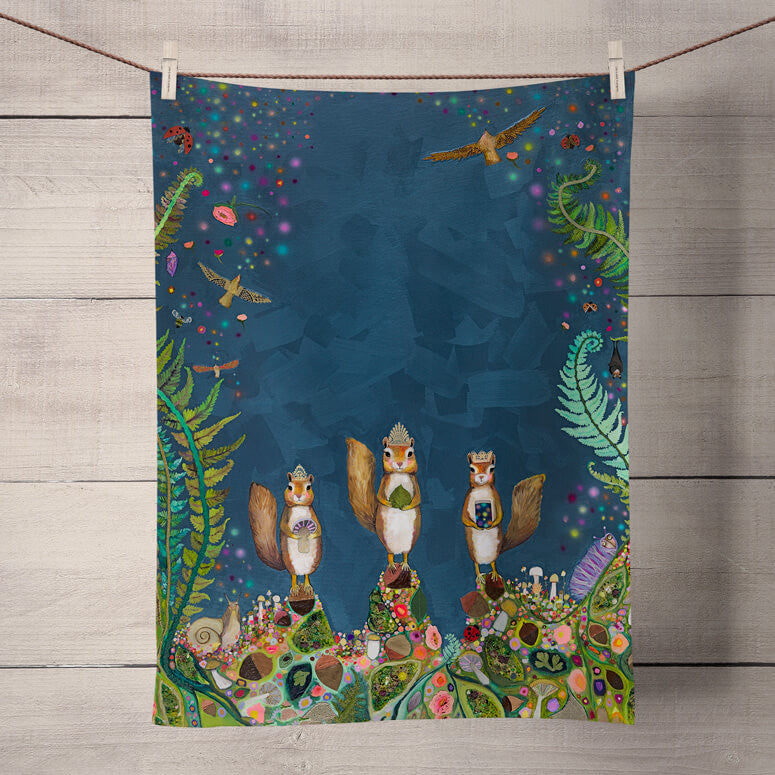 Squirrel Royale Tea Towel - BACK IN STOCK JANUARY 20, 2021