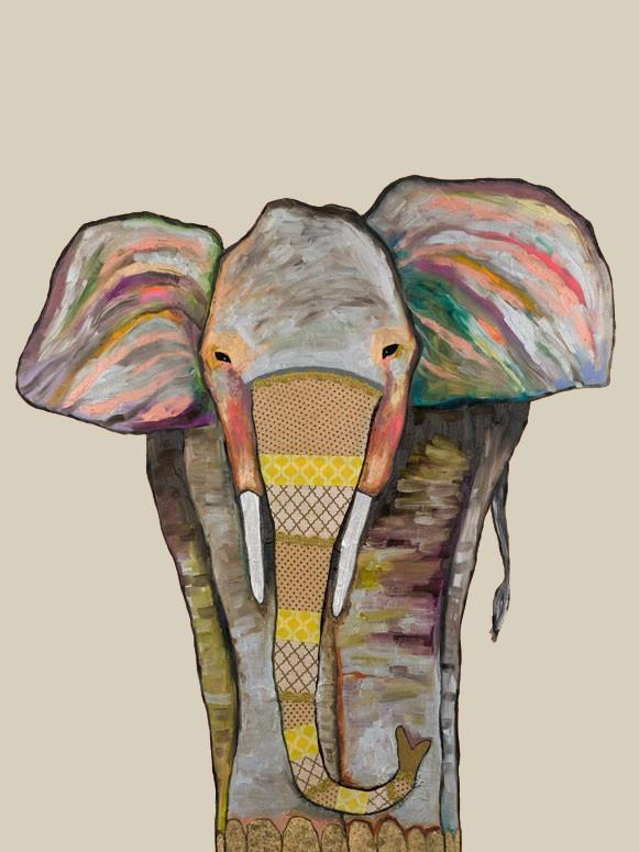 Trendy Trunk on Cream - Canvas Giclée Print