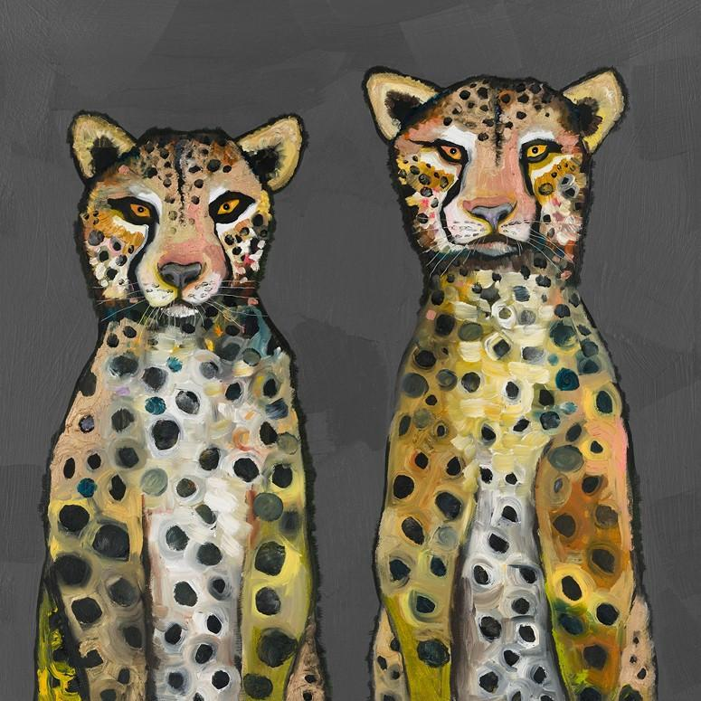 Two Wild Cheetahs - Canvas Giclée Print
