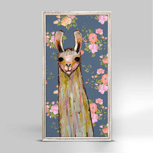 "Load image into Gallery viewer, Baby Llama - Floral Mini Print 5""x10"""