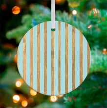 Load image into Gallery viewer, Holiday - Badger with Gold Stripes Ceramic Ornament