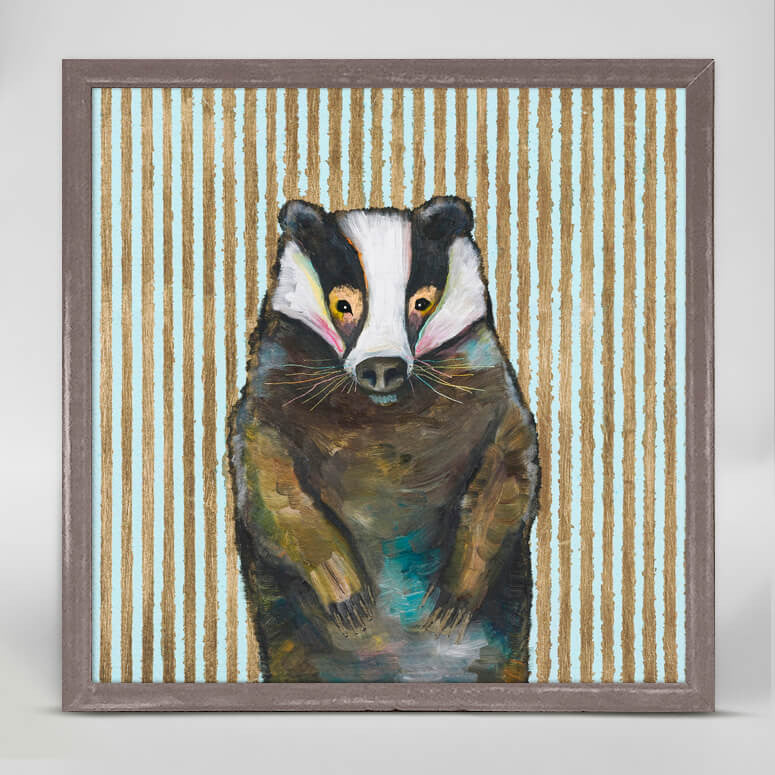 Badger with Gold Stripes Mini Print 6