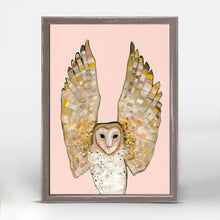 "Load image into Gallery viewer, Barn Owl on Coral Mini Print 5""x7"""
