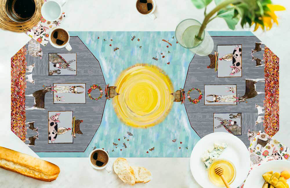 Barn Party Table Runner NEW FOR SPRING