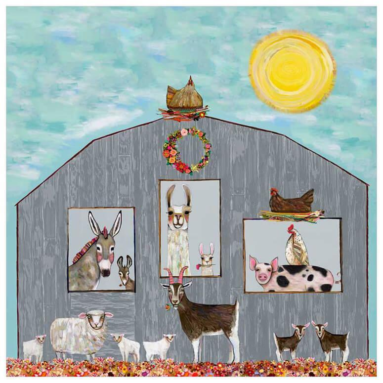 Barn Party - Canvas Giclée Print