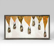 "Load image into Gallery viewer, Bats on Sparkly Stalactites - Cream Mini Print 10""x5"""