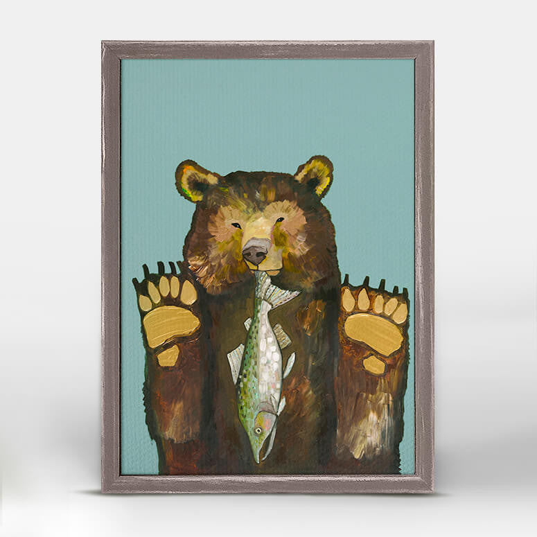 Bear with Salmon Mini Print 5