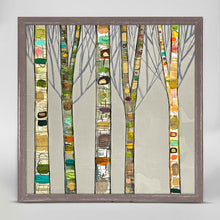 "Load image into Gallery viewer, Birch Trees on Silver Mini Print 6""x6"""