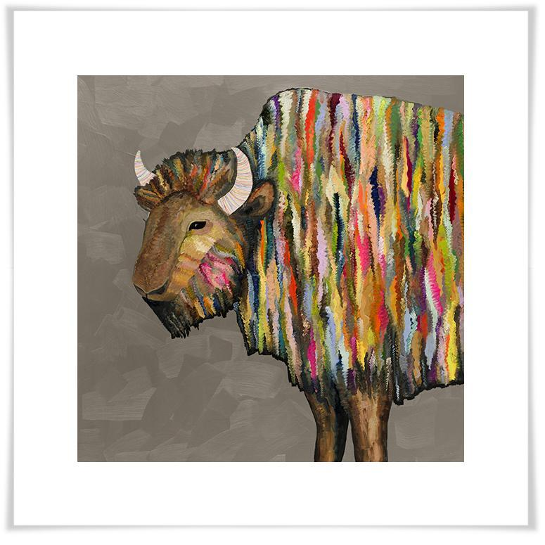 Bison in Putty - Paper Giclée Print