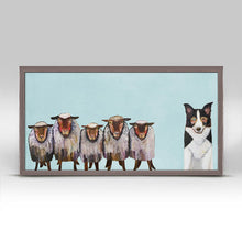 "Load image into Gallery viewer, Border Collie and Crew - Sky Blue Mini Print 10""x5"""