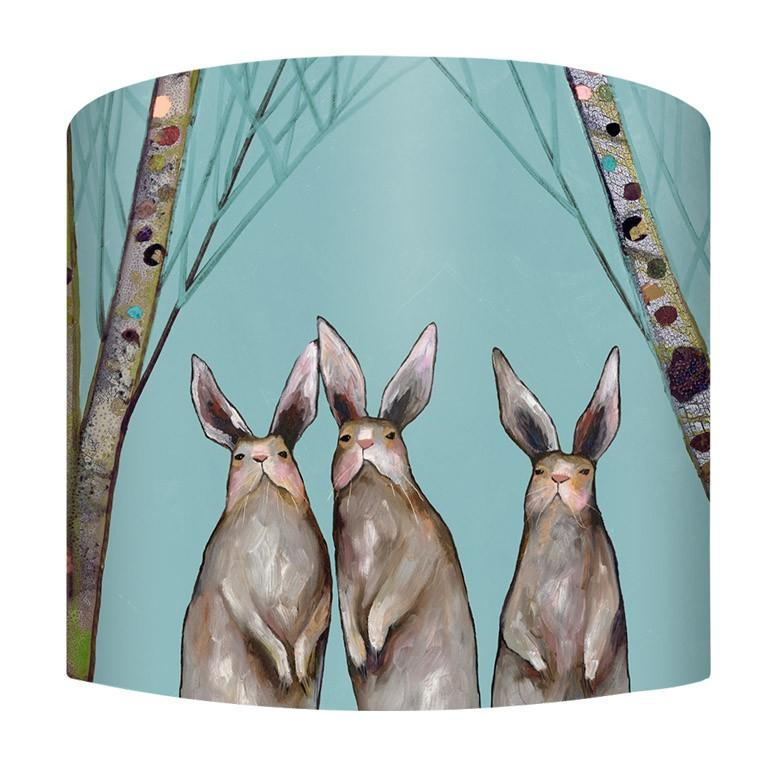 Bunnies in the Forest Lamp - Small