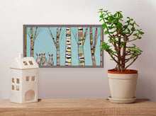 "Load image into Gallery viewer, Bunnies in the Woods Mini Print 10""x5"""