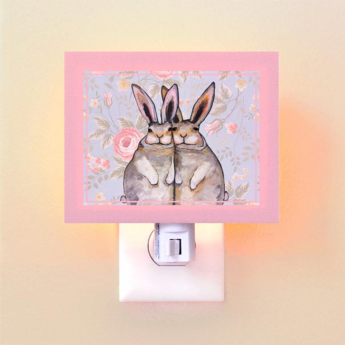 Bunny Friends - Floral Night Light