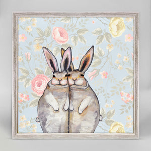 "Bunny Friends - Floral Mini Print 6""x6"""