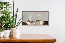 "Load image into Gallery viewer, Caribou Family - Taupe Mini Print 10""x5"""