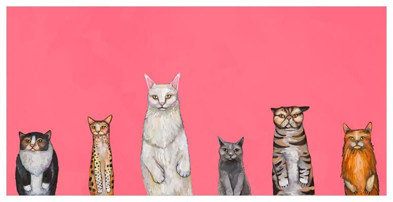 Cats Cats Cats - Canvas Giclée Print