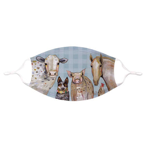 Cattle Dog and Crew Cotton Jersey Face Mask