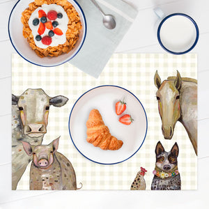 Cattle Dog and Crew Vinyl Placemat