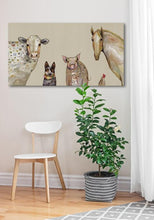 Load image into Gallery viewer, Cattle Dog and Crew in Oatmeal - Canvas Giclée Print