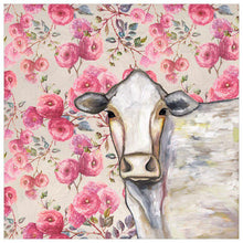 Load image into Gallery viewer, Cow Floral - Canvas Giclée Print