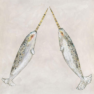 Narwhal Duo - Canvas Giclée Print