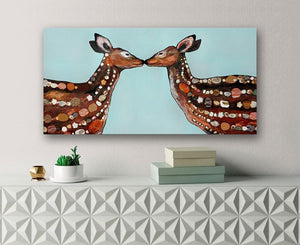 Deer Love - Canvas Giclée Print