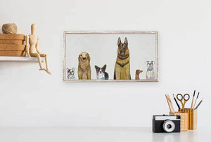 "Dogs Dogs Dogs - Gray Mini Print 10""x5"""