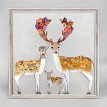 "Load image into Gallery viewer, Fallow Deer Family - Neutral Mini Print 6""x6"""