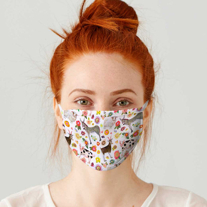 Farmers Market Cotton Jersey Face Mask