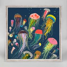 "Load image into Gallery viewer, Floating Jellyfish Indigo Mini Print 6""x6"""