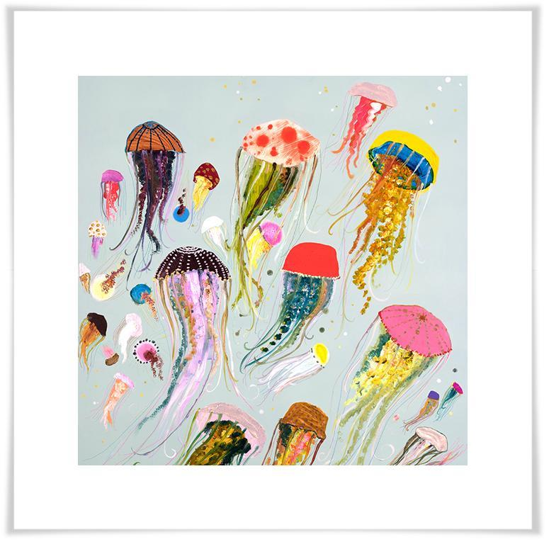 Floating Jellyfish - Paper Giclée Print